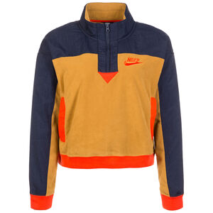 Half-Zip Polar Sweatshirt Damen, hellbraun / dunkelblau, zoom bei OUTFITTER Online