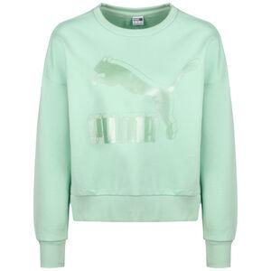 Classics Logo Metallic Sweatshirt Damen, mint, zoom bei OUTFITTER Online