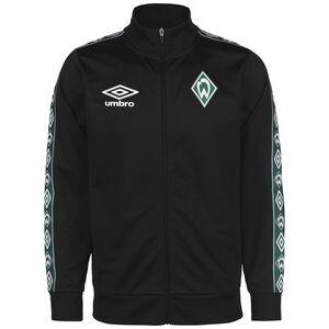 SV Werder Bremen Icon Tricot Trainingsjacke Herren, schwarz / dunkelgrün, zoom bei OUTFITTER Online