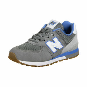 PC574-M Sneaker Kinder, grau / blau, zoom bei OUTFITTER Online