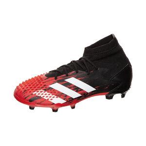 Predator 20.1 FG Fußballschuh Kinder, schwarz / rot, zoom bei OUTFITTER Online