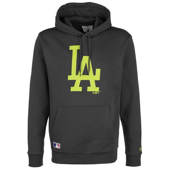 MLB Los Angeles Dodgers Seasonal Team Logo Kapuzenpullover Herren, dunkelgrau / neongelb, zoom bei OUTFITTER Online