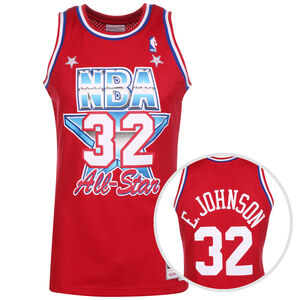 Classic Swingman All Star #32 Earvin Johnson Basketballtrikot Herren, rot / blau, zoom bei OUTFITTER Online