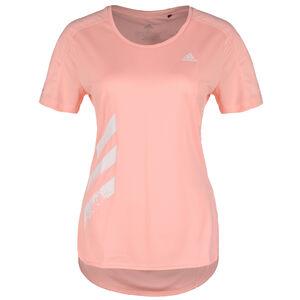 Run It 3 Stripes Laufshirt Damen, korall, zoom bei OUTFITTER Online