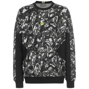 Borussia Dortmund BVB TFS Crew Sweatshirt Herren, schwarz / grau, zoom bei OUTFITTER Online