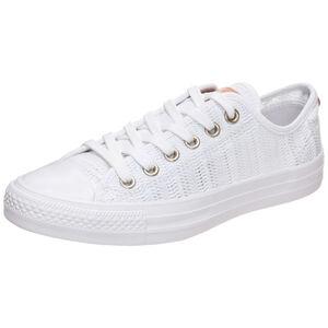 Chuck Taylor All Star Herringbone Mesh OX Sneaker Damen, Weiß, zoom bei OUTFITTER Online