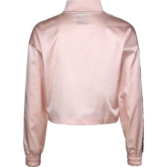 Air Satin Track Jacke Damen, rosa / schwarz, zoom bei OUTFITTER Online