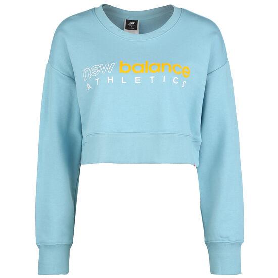 Essential Icon Crew Sweatshirt Damen, hellblau / gelb, zoom bei OUTFITTER Online