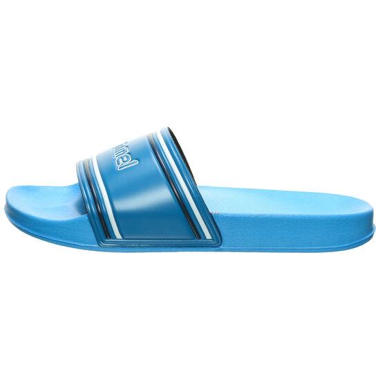 Pool Slide Retro Badesandale, blau, zoom bei OUTFITTER Online