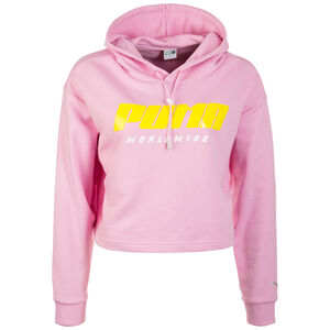 TZ Kapuzenpullover Damen, rosa / gelb, zoom bei OUTFITTER Online