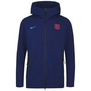 FC Barcelona Tech Pack Kapuzenjacke Herren, blau / türkis, zoom bei OUTFITTER Online