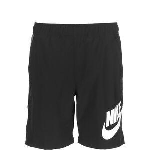 Woven Hybrid Shorts Kinder, schwarz / weiß, zoom bei OUTFITTER Online