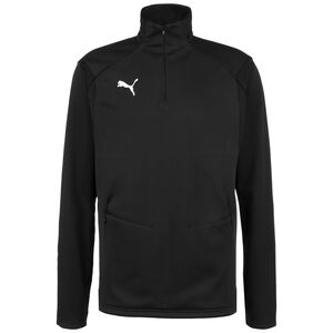 LIGA Fleece Trainingssweat Herren, schwarz / weiß, zoom bei OUTFITTER Online