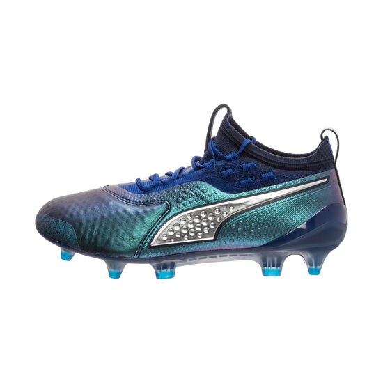 ONE 1 Lth FG/AG Fußballschuh Kinder, blau / silber, zoom bei OUTFITTER Online