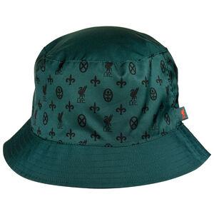 FC Liverpool Reversible Bucket Hat, dunkelgrün / rot, zoom bei OUTFITTER Online