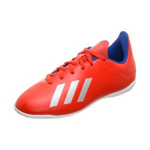 X 18.4 Indoor Fußballschuh Kinder, rot / silber, zoom bei OUTFITTER Online