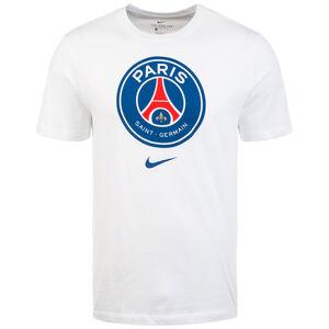 Paris Saint-Germain Evergreen Crest T-Shirt Herren, weiß, zoom bei OUTFITTER Online