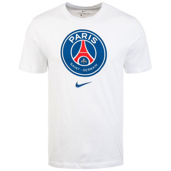 Paris Saint-Germain Evergreen Crest T-Shirt Herren, weiß, zoom bei OUTFITTER Online