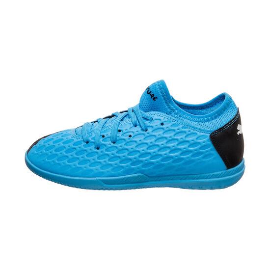 Future 5.4 Indoor Fußballschuh Kinder, blau / schwarz, zoom bei OUTFITTER Online