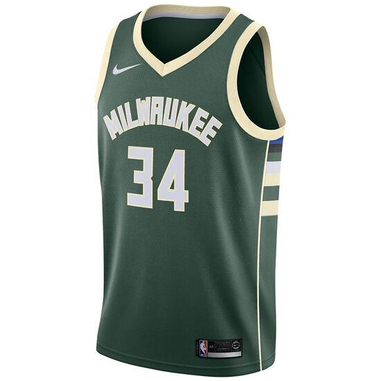 NBA Milwaukee Bucks #34 Antetokounmpo Basketballtrikot Herren, grün, zoom bei OUTFITTER Online