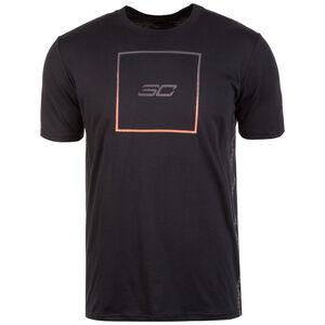 SC30 Box Logo T-Shirt Herren, schwarz / orange, zoom bei OUTFITTER Online