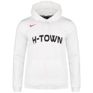 NBA Houston Rockets City Edition Logo Fleece Kapuzenpullover Herren, weiß / schwarz, zoom bei OUTFITTER Online