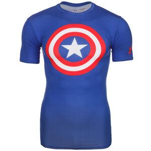 Herren Alter Ego Superman Flash Captain America Funktionsshirt, dunkelblau / weiß / rot, zoom bei OUTFITTER Online
