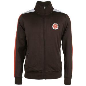 Logo Trainingsjacke Herren, braun / rot, zoom bei OUTFITTER Online
