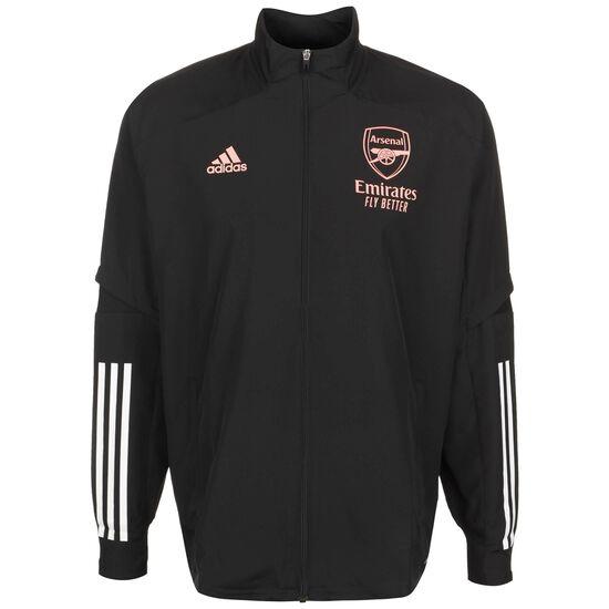 FC Arsenal Präsentationsjacke Herren, schwarz / weiß, zoom bei OUTFITTER Online