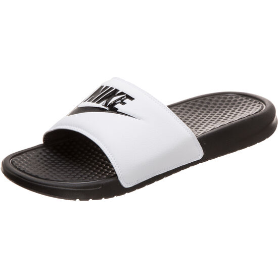 new products 7ba37 622d9 ... Benassi Just Do It Badesandale, weiß / schwarz, zoom bei OUTFITTER  Online ...
