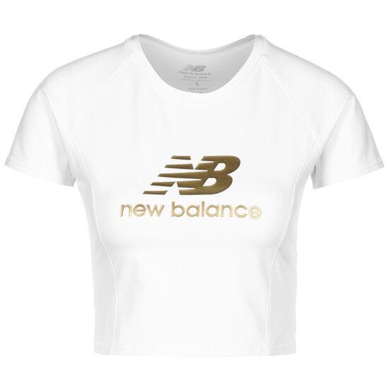 Athletics Podium T-Shirt Damen, weiß / gold, zoom bei OUTFITTER Online