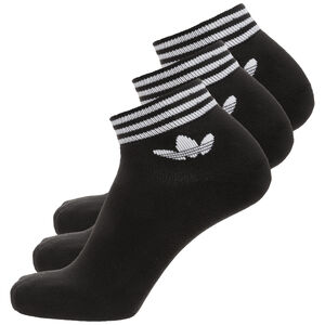 Trefoil Ankle Stripes Socken 3er Pack, schwarz / weiß, zoom bei OUTFITTER Online