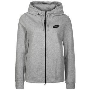 Optic Fleece Kapuzenjacke Damen, grau, zoom bei OUTFITTER Online
