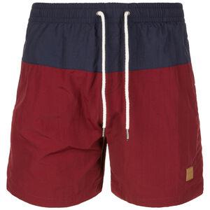 Block Swim Short Herren, dunkelblau / bordeaux, zoom bei OUTFITTER Online