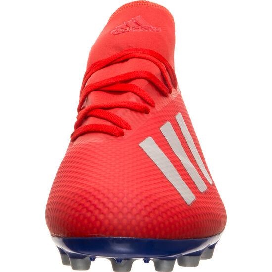 X 18.3 AG Fußballschuh Herren, rot / silber, zoom bei OUTFITTER Online