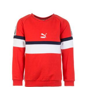 XTG Crew Sweatshirt Kinder, rot / weiß, zoom bei OUTFITTER Online