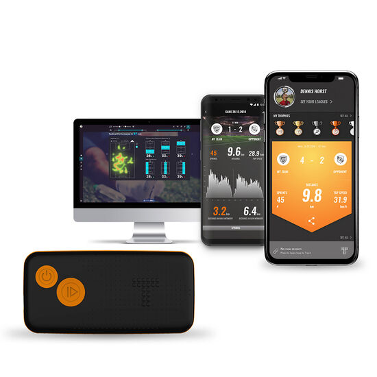 OUTFITTER x TRACKTICS Perform GPS Fußball Tracker, schwarz / weiß, zoom bei OUTFITTER Online