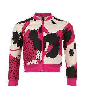AEROREADY Animal Print Warm-Up Jacke Kinder, magenta / schwarz, zoom bei OUTFITTER Online