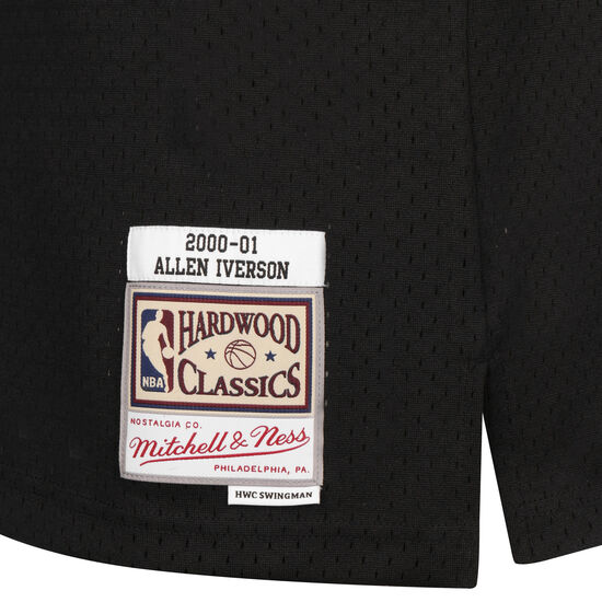 NBA Philadelphia 76ers Allen Iverson Basketballtrikot Herren, schwarz / dunkelrot, zoom bei OUTFITTER Online
