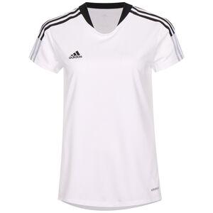 Tiro 21 Trainingsshirt Damen, weiß / schwarz, zoom bei OUTFITTER Online