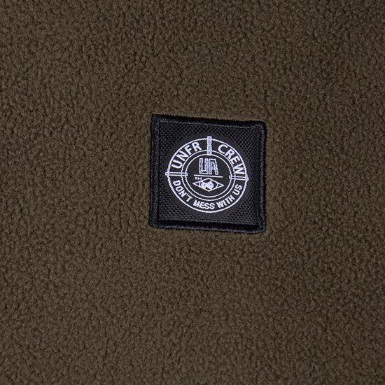 DMWU Patch Fleece Sweatshirt Herren, oliv / orange, zoom bei OUTFITTER Online