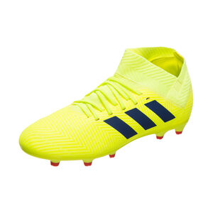 Nemeziz 18.3 FG Fußballschuh Kinder, neongelb / blau, zoom bei OUTFITTER Online