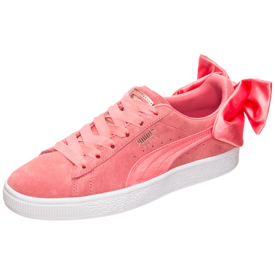 Suede Bow Sneaker Damen, Pink, zoom bei OUTFITTER Online