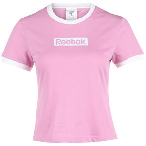 Training Essentials Linear Logo Trainingsshirt Damen, rosa, zoom bei OUTFITTER Online