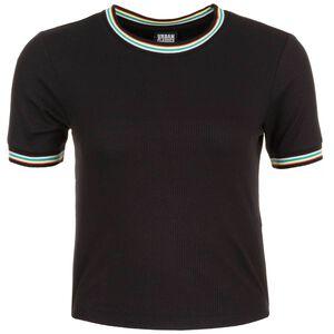 Short Multicolor Rib T-Shirt Damen, schwarz, zoom bei OUTFITTER Online