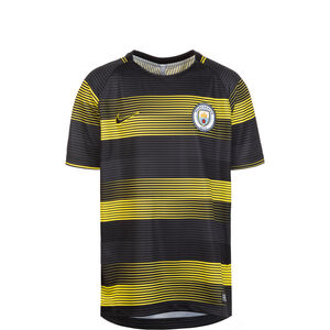 Manchester City Dry Squad GX Trainingsshirt Kinder, gelb / schwarz, zoom bei OUTFITTER Online
