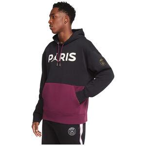 Paris St.-Germain Fleece Kapuzenpullover Herren, schwarz / bordeaux, zoom bei OUTFITTER Online