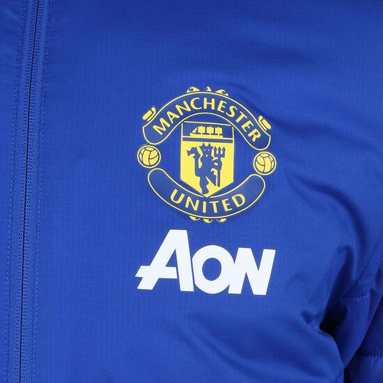 Manchester United Winterjacke Herren, blau / schwarz, zoom bei OUTFITTER Online