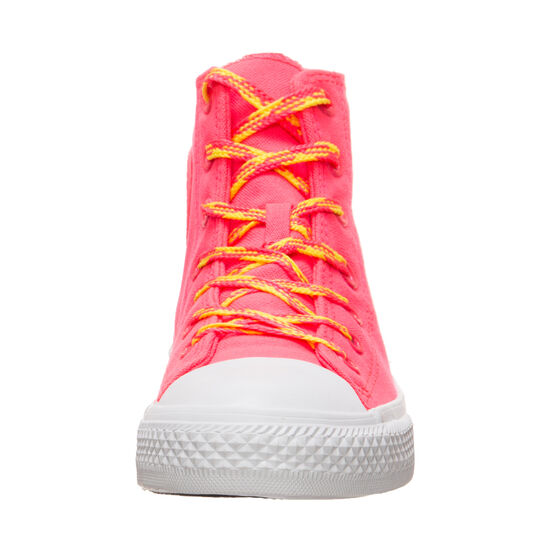 Chuck Taylor All Star High Sneaker Kinder, pink / gelb, zoom bei OUTFITTER Online