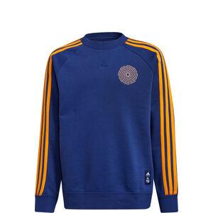Real Madrid Crew Sweatshirt Kinder, blau / dunkelgelb, zoom bei OUTFITTER Online